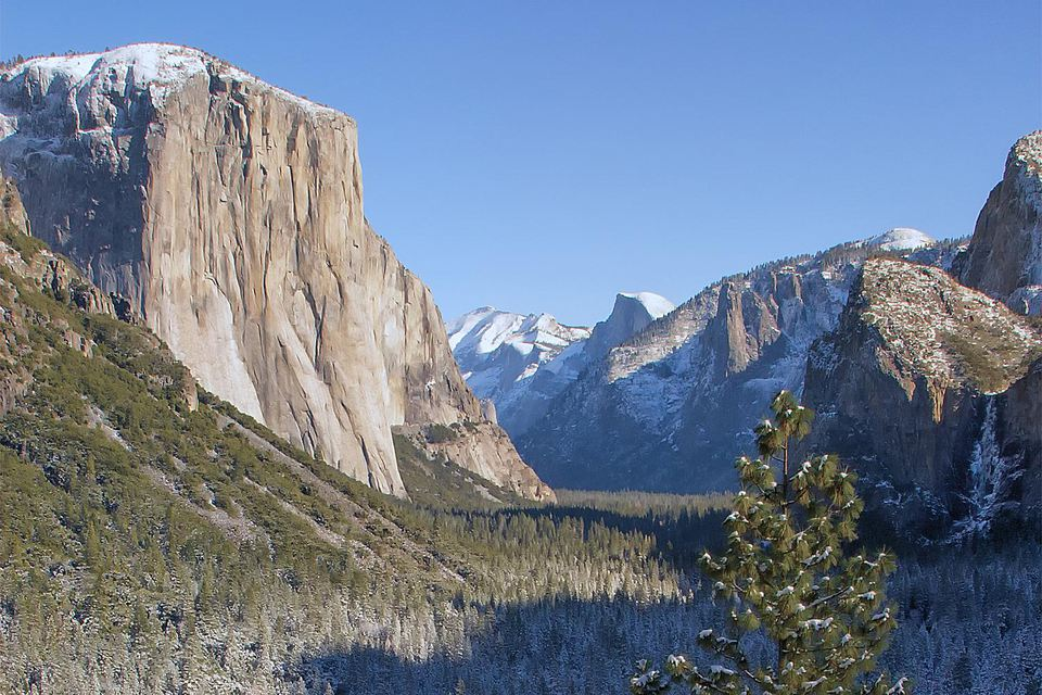 Yosemite Valley from Tunnel View - Winter