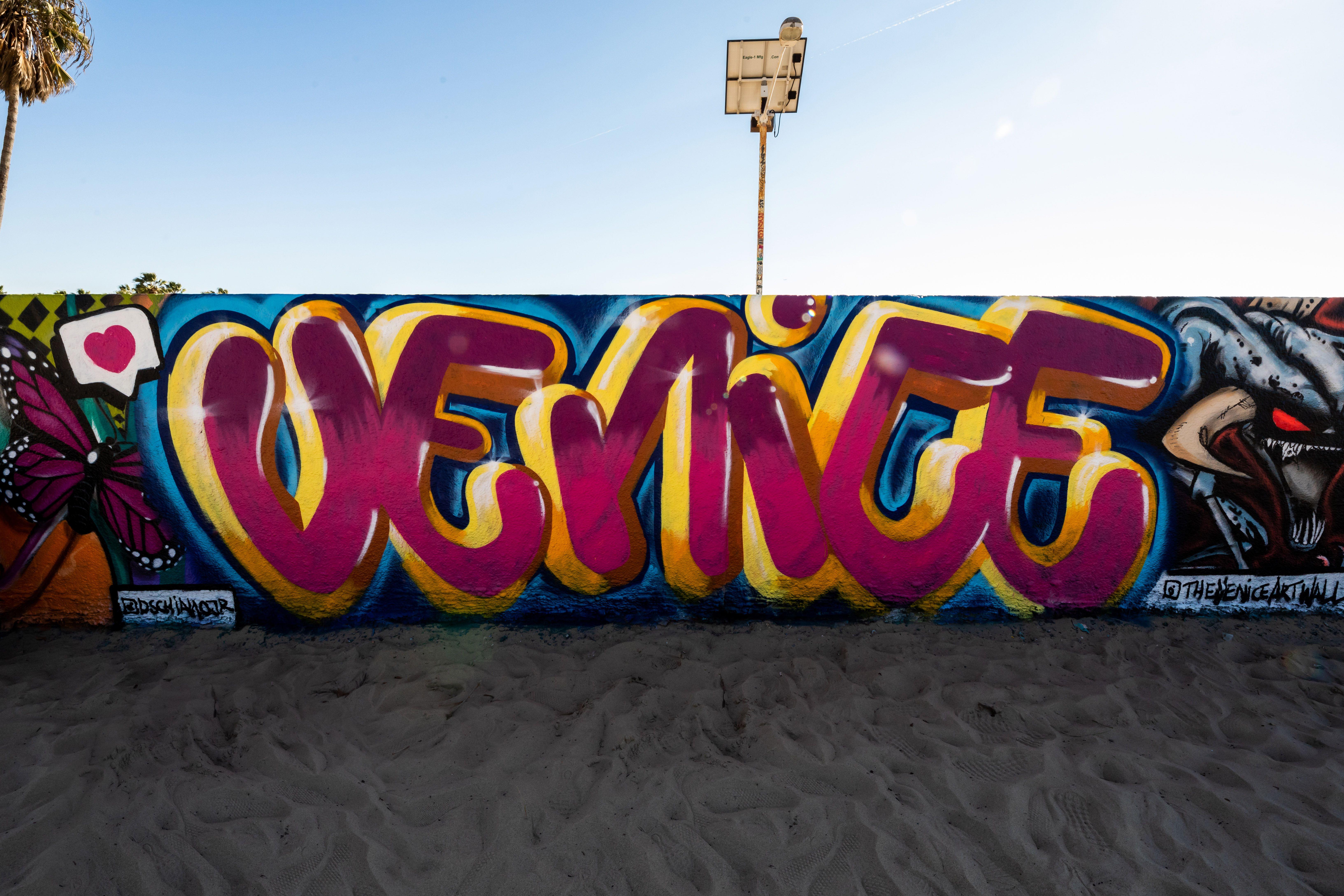 Un mural en Venice Beach