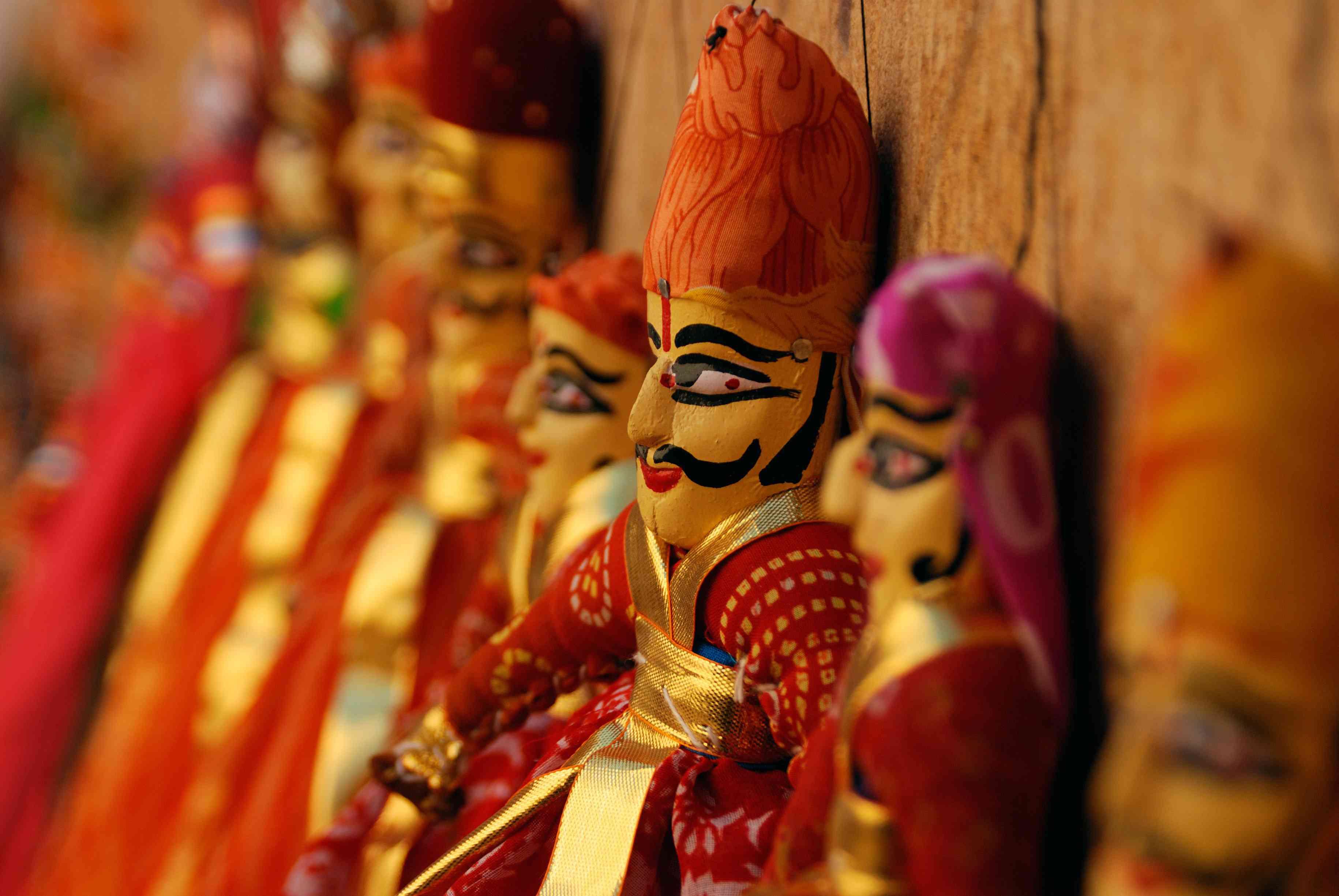 Jaisalmer, puppets.