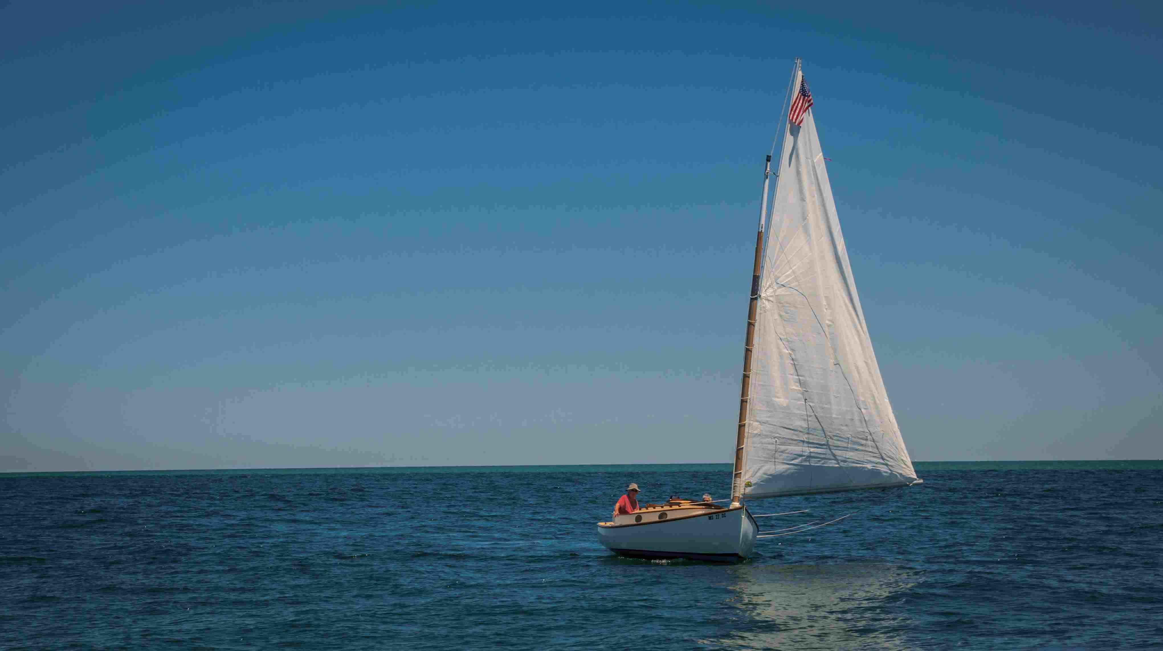 Catboat Sailing