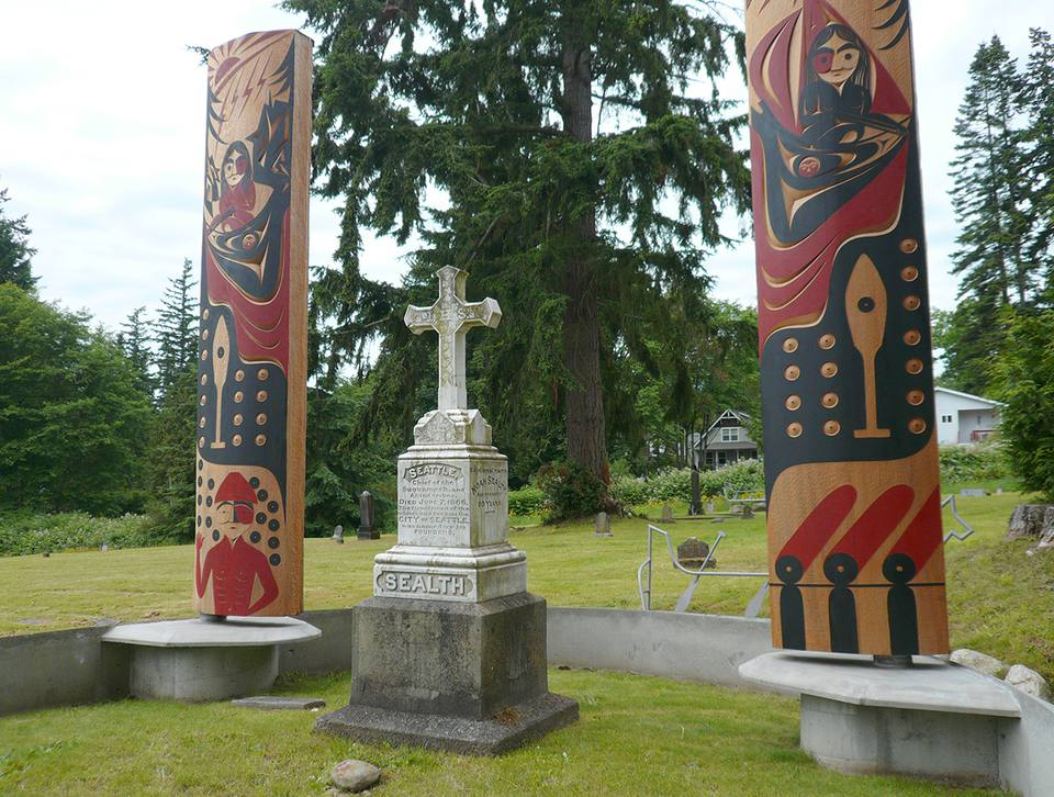 Chief Seattle Grave Site in Suquamish, Washington