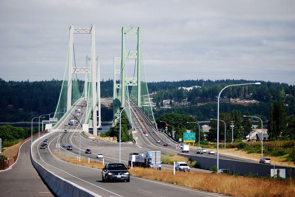 Tacoma Narrows Bridges Bike Path