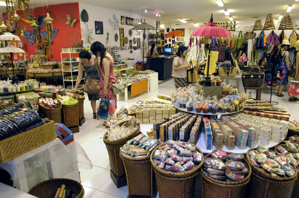 Shopping inside Centro in Discovery Mall, Kuta, Bali
