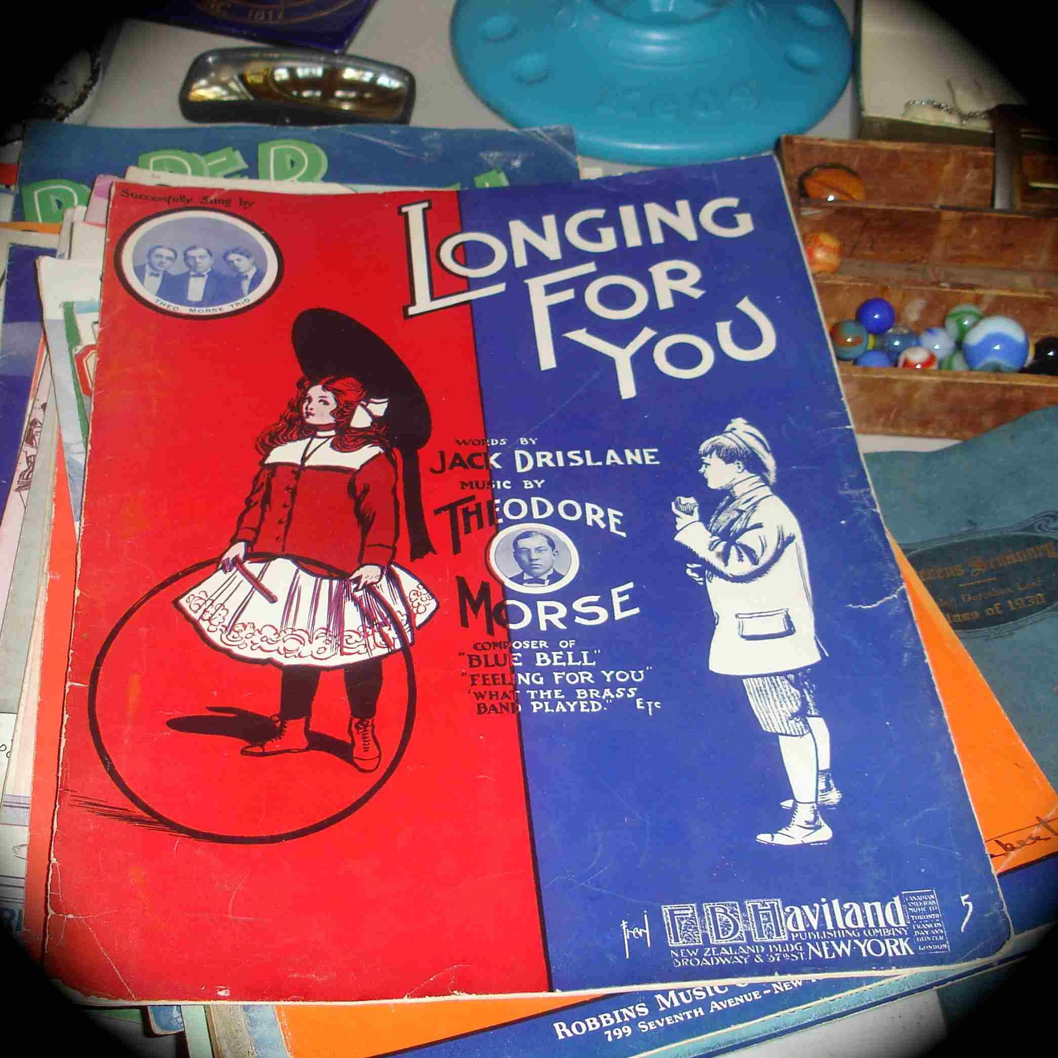 Vintage music score found at Brooklyn Flea.