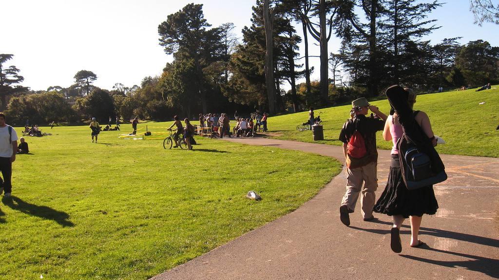 Walking Toward Hippie Hill's Drum Circle