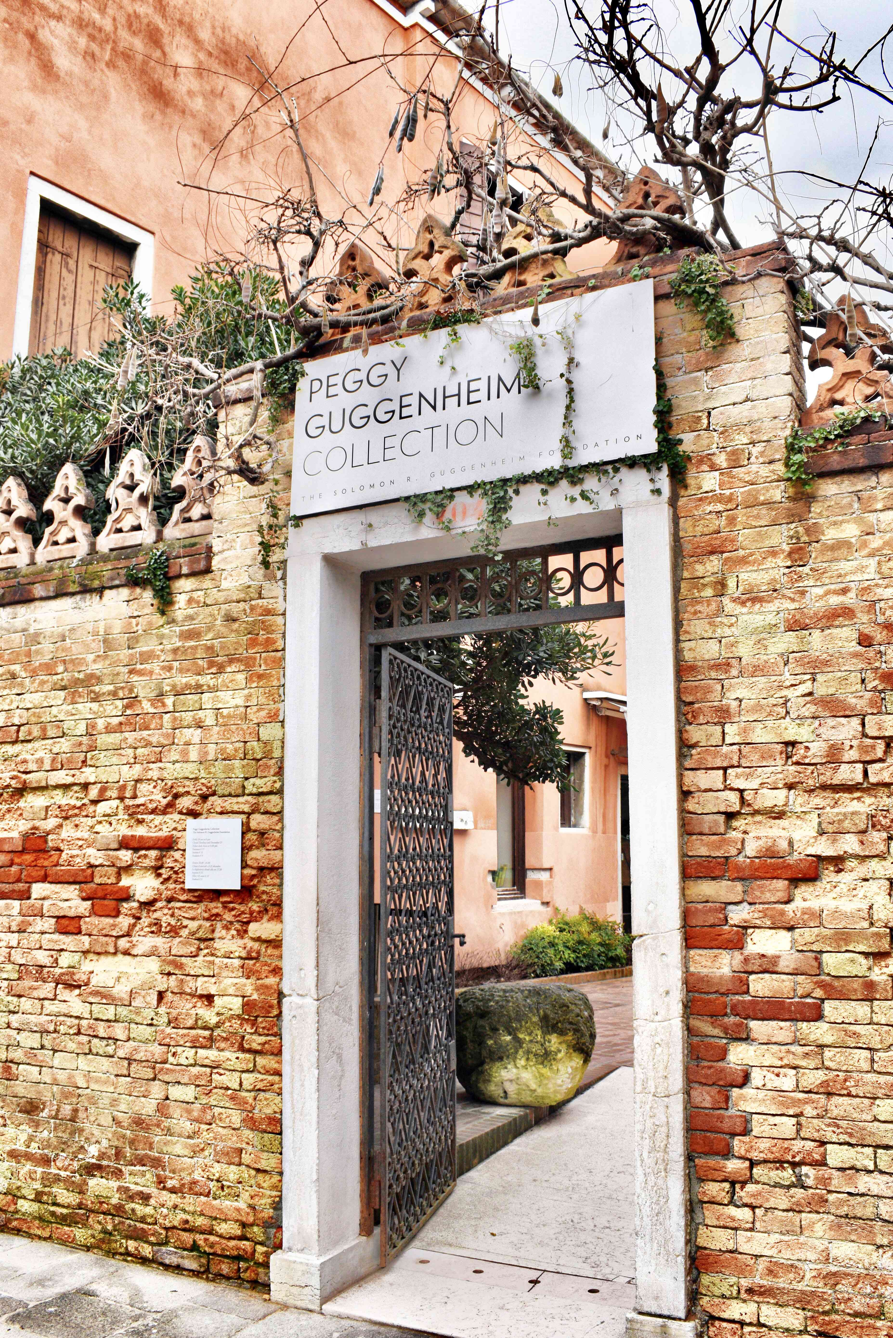 Entrance to the Peggy Guggenheim Collection