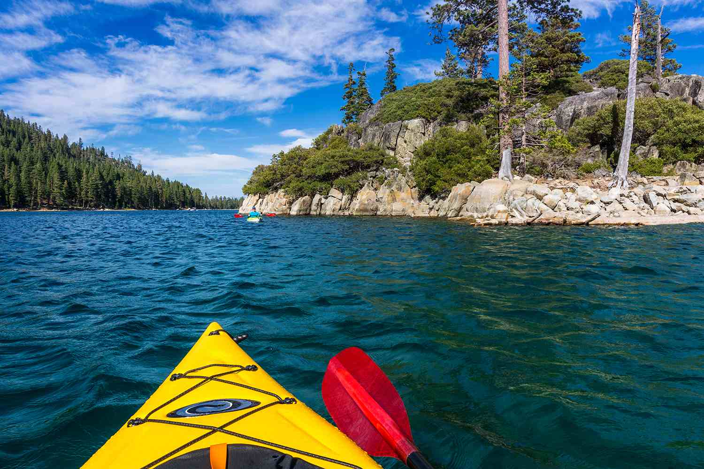 Kayaking in Emerald Bay, Emerald Bay State Park, Lake Tahoe, Californi