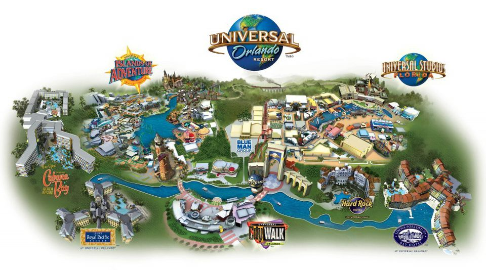 Universal Florida Map.Maps Of Universal Orlando Resort S Parks And Hotels