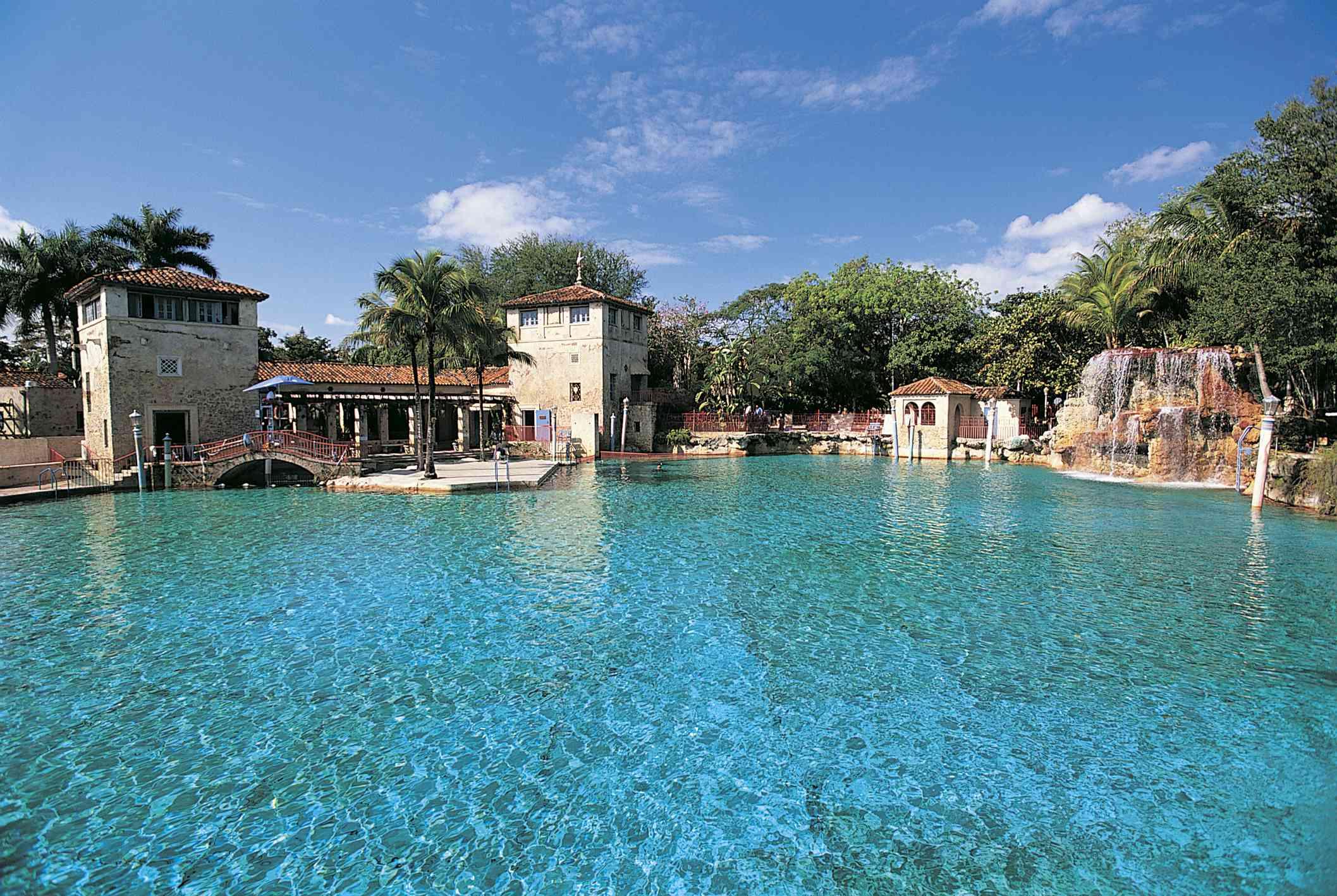 Empty Venetian Pool in Coral Gables, Miami