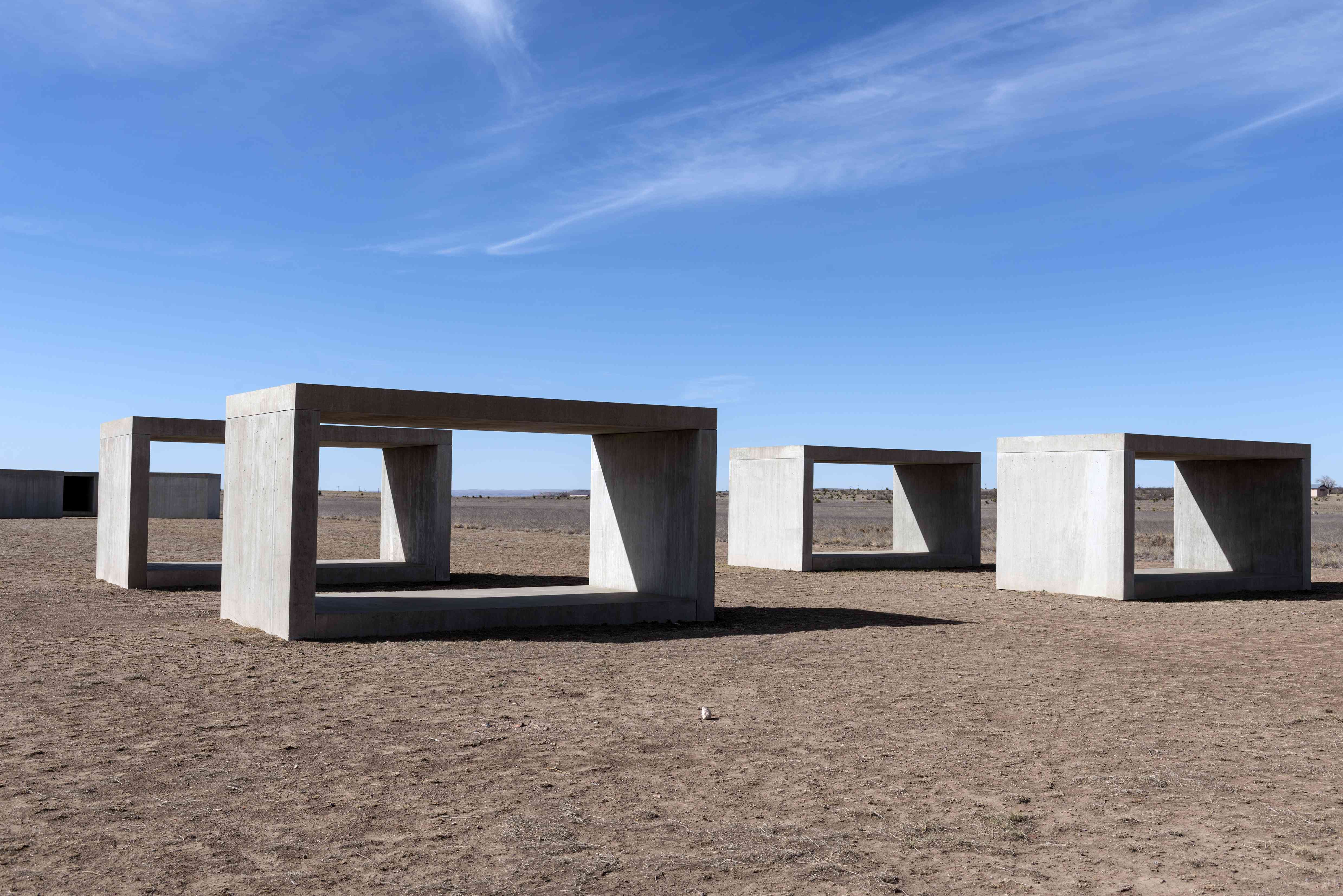 Untitled box-like art, sometimes called Judd cubes, by Minimalist artist Donald Judd, though he dete