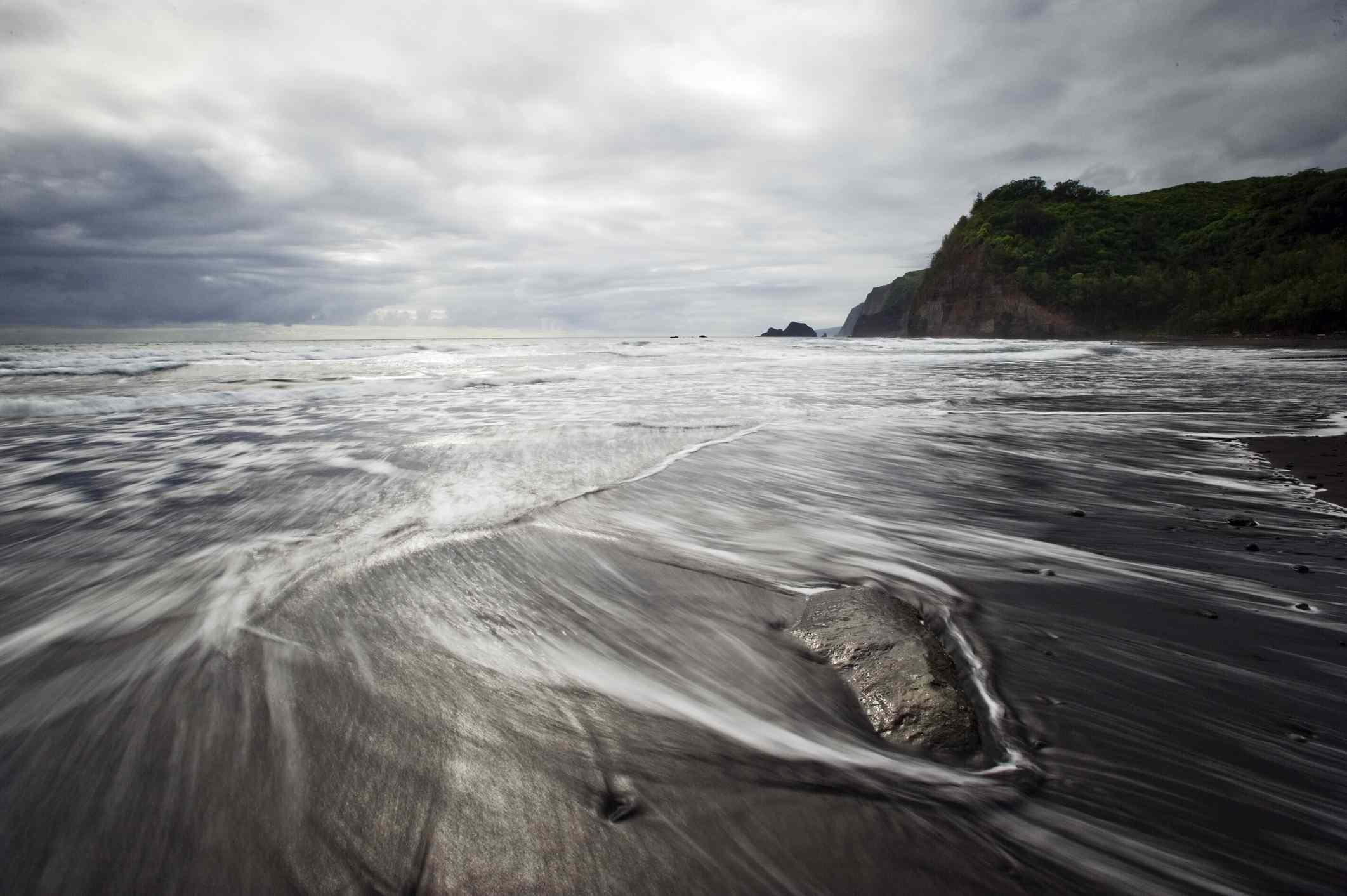 Polulu Beach in Hawaii.