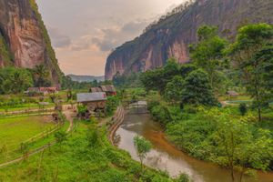 Harau Valley beautiful landscape in Indonesia