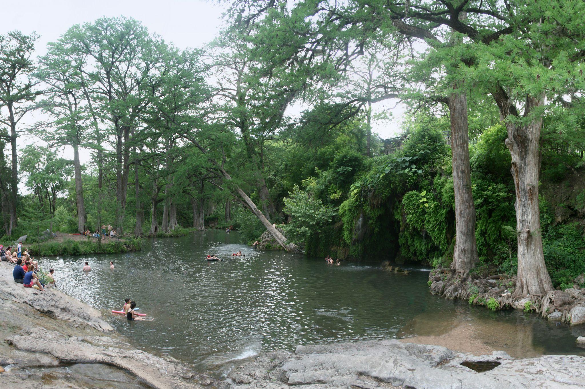 Pozo de natación en Krause Springs