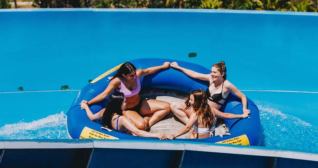 Family raft ride at South Bay Shores water park