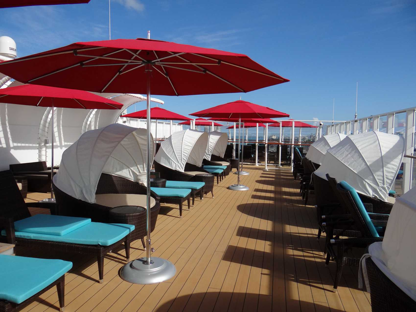 The Haven private sundeck area on the Norwegian Getaway