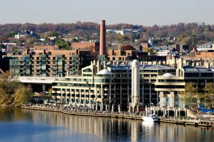 View of Georgetown and Waterfront-Washington DC