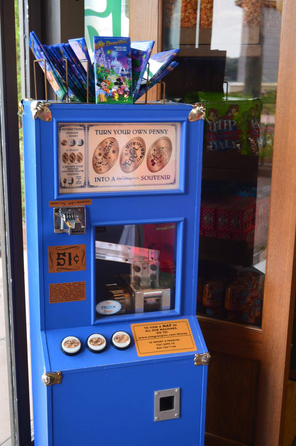 Pressed Penny machine at Disney World