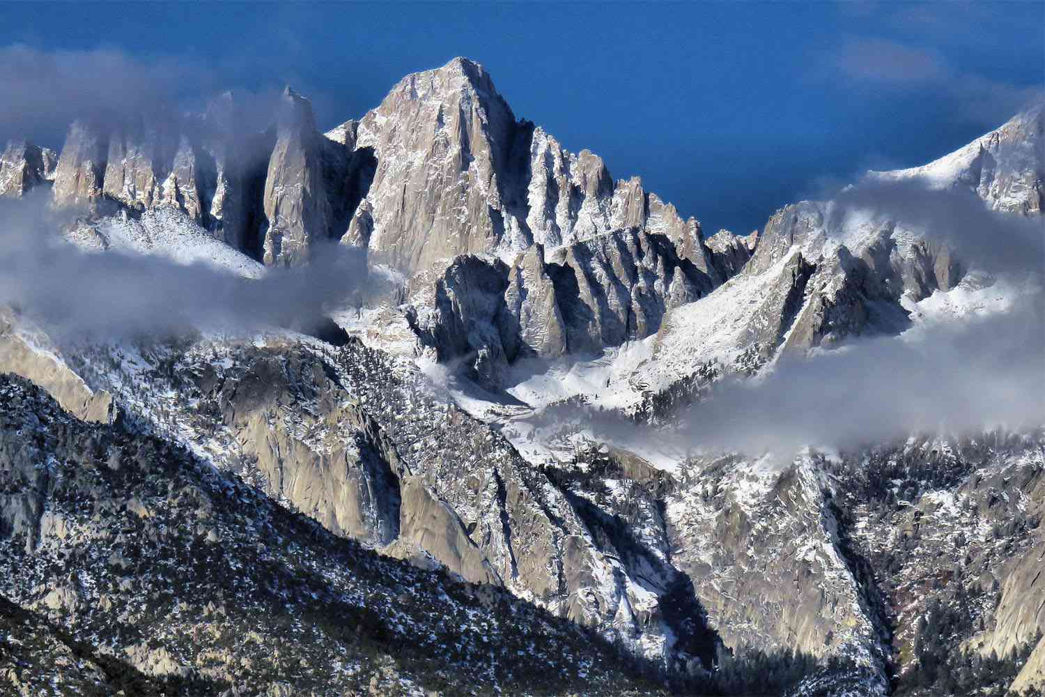 View of Mount Whitney from Lone Pine