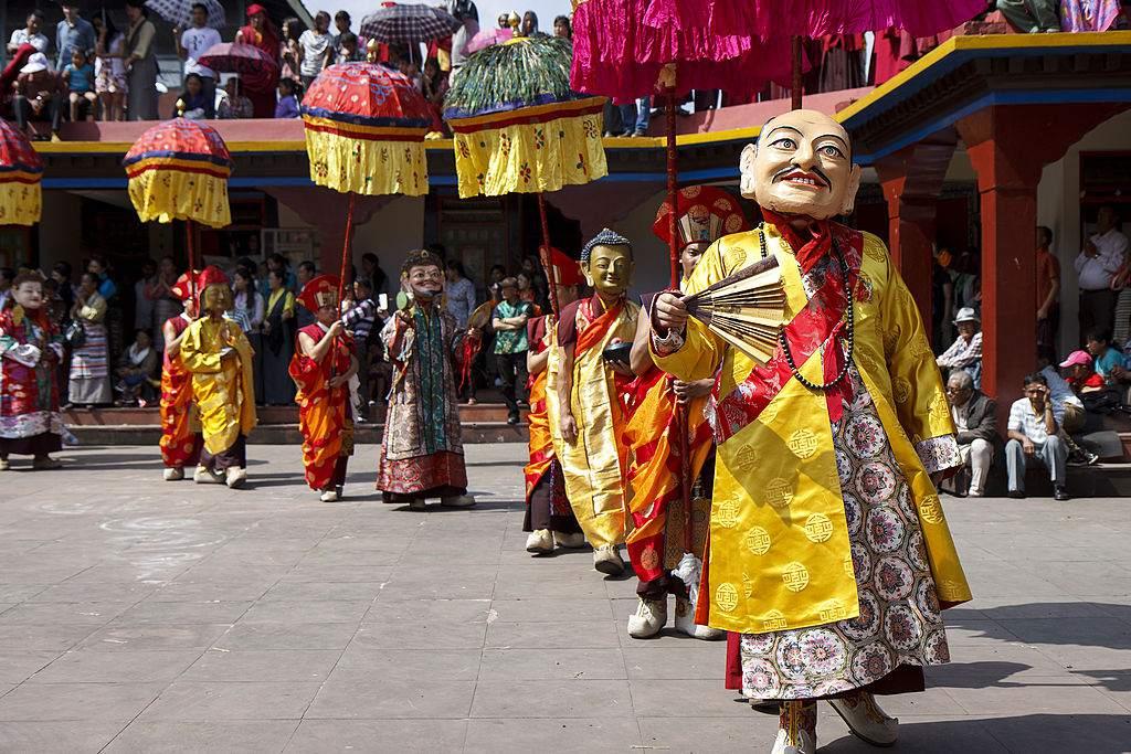 Saga Dawa en el Monasterio Rumtek, Sikkim