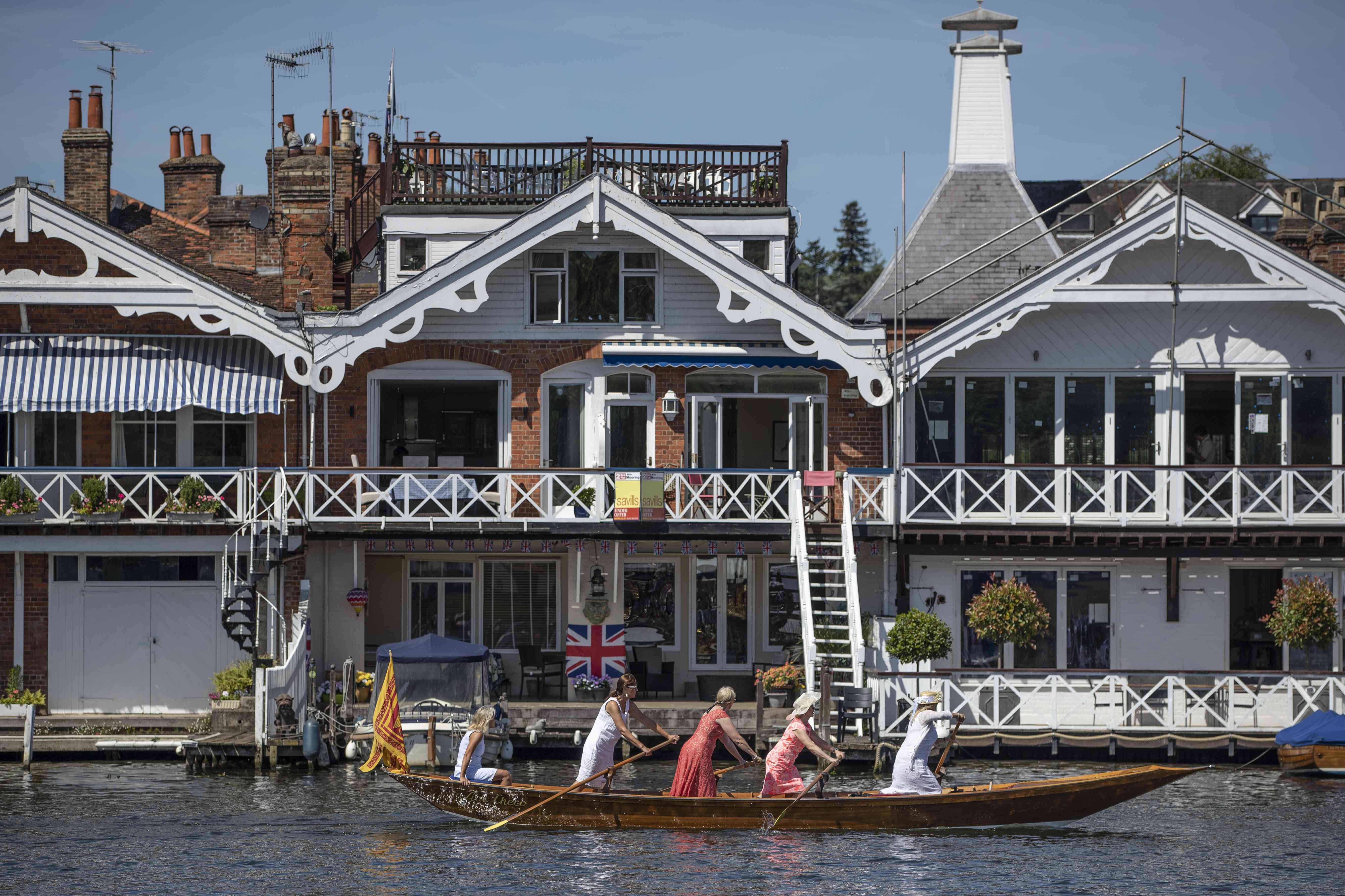 Athletes And Spectators Attend The Henley Regatta