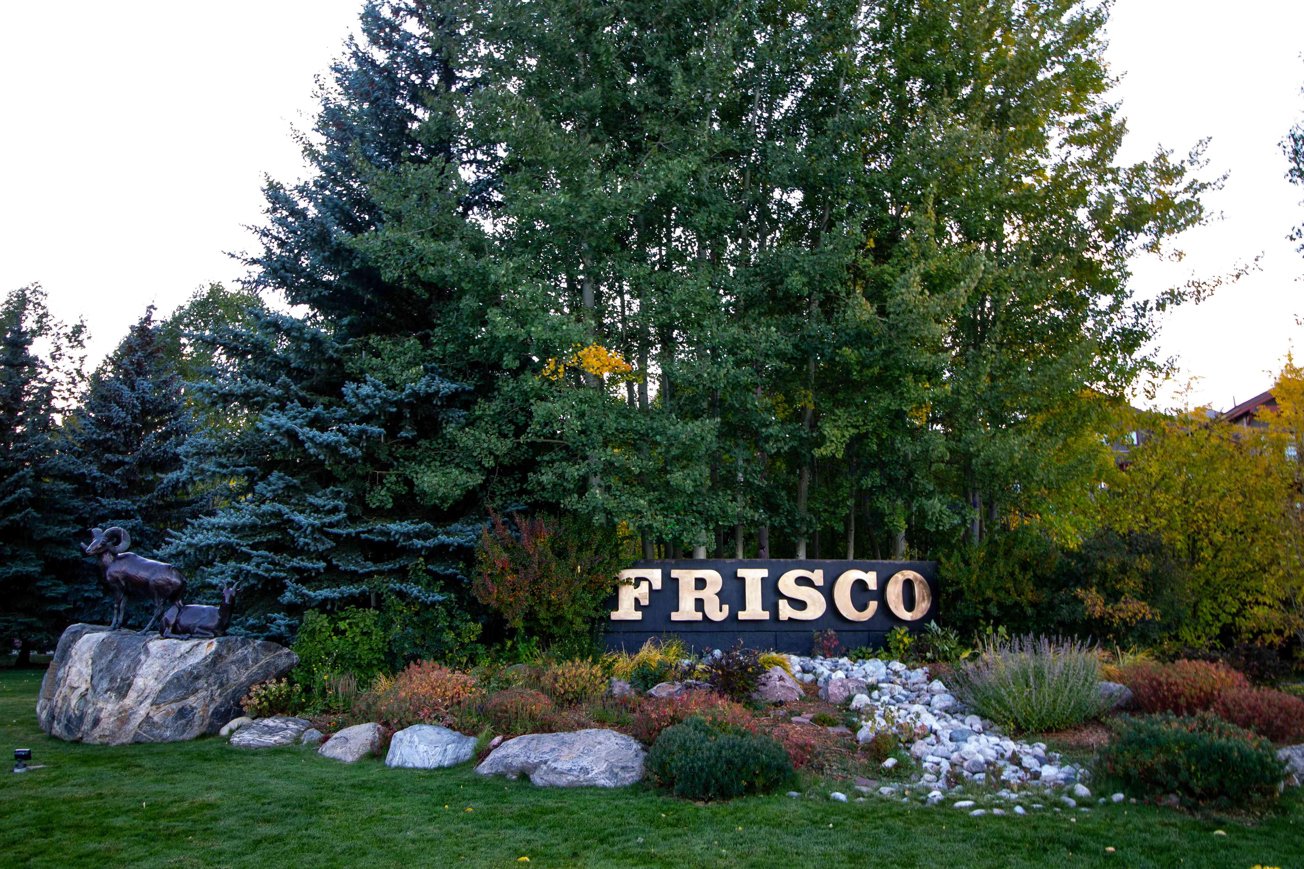 Signage for Frisco, Colorado