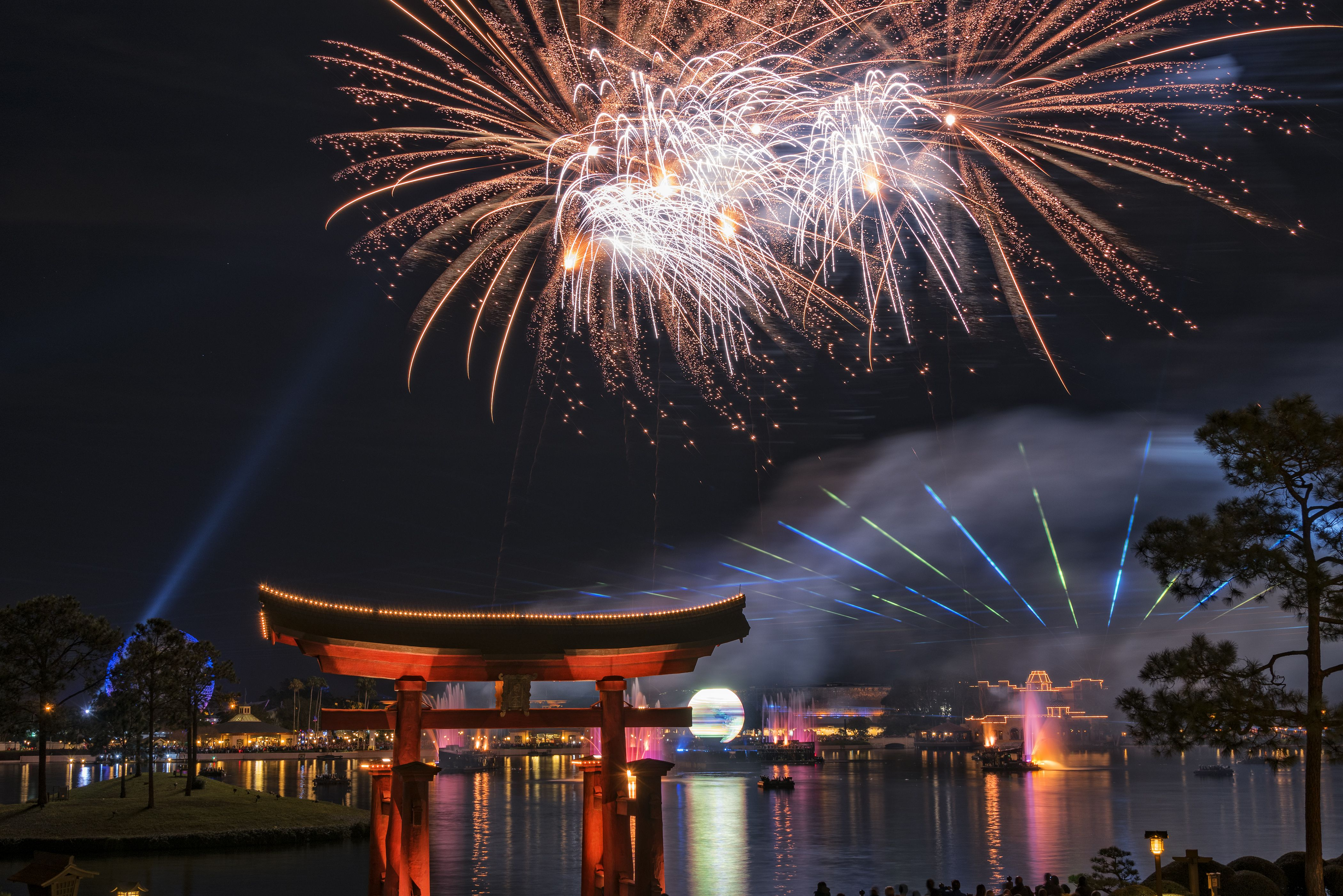 Fireworks Show at Epcot Center in Disney World
