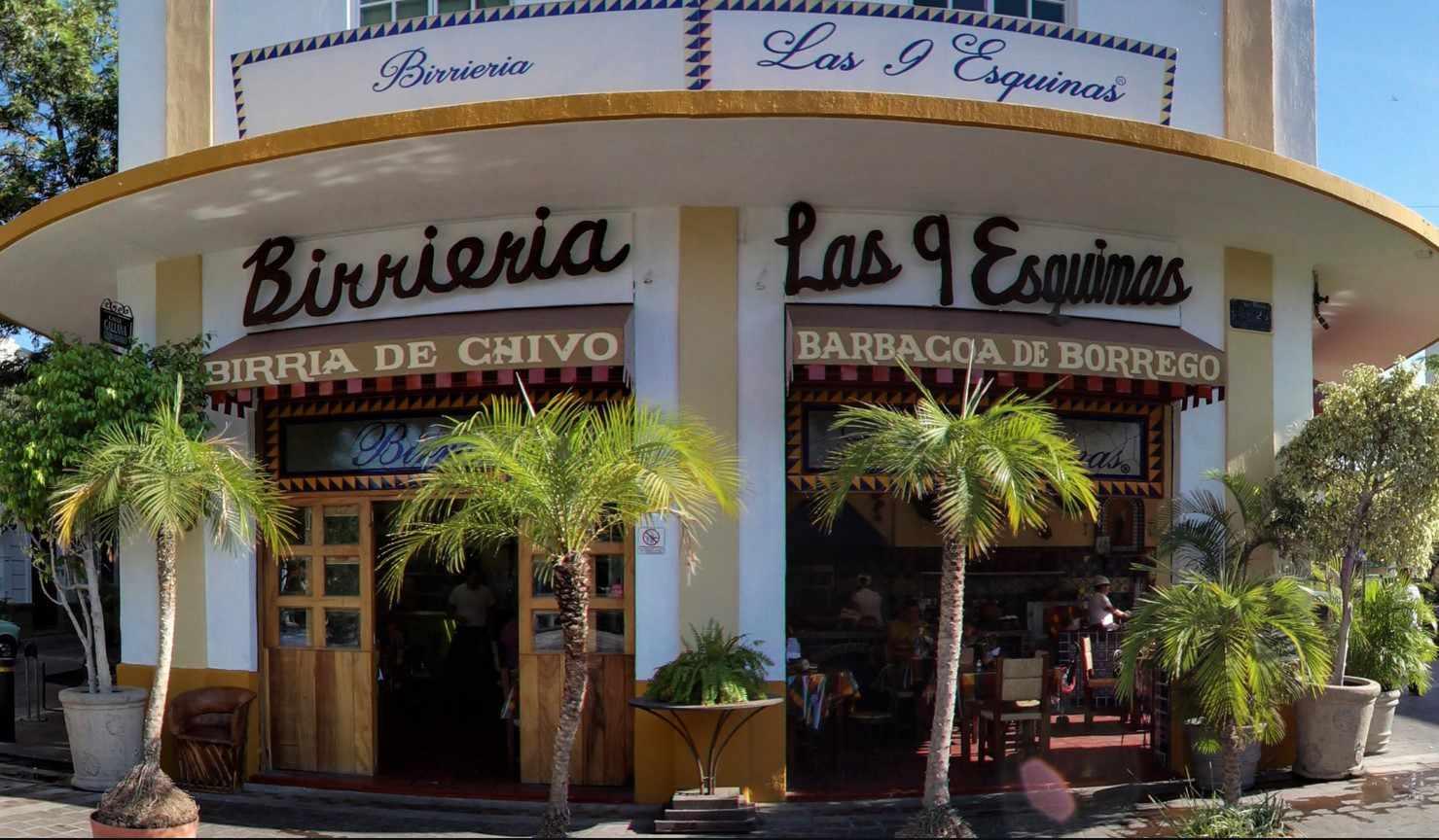 Exterior of Birrieria Las 9 Esquinas in Guadalajara