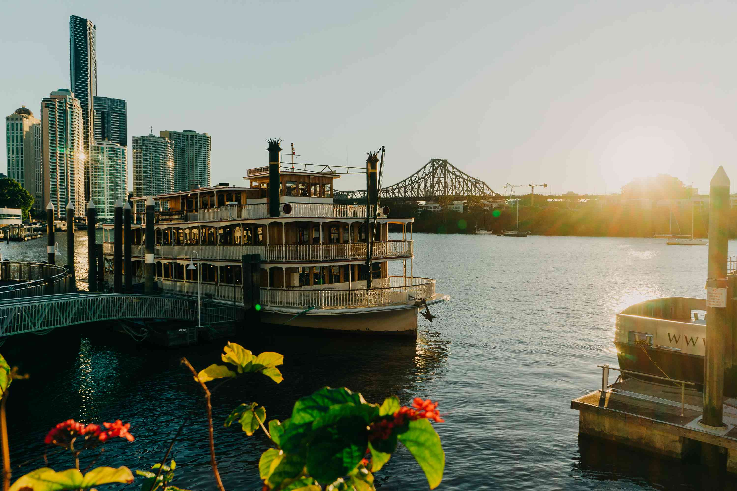 A boat on the Brisbane river
