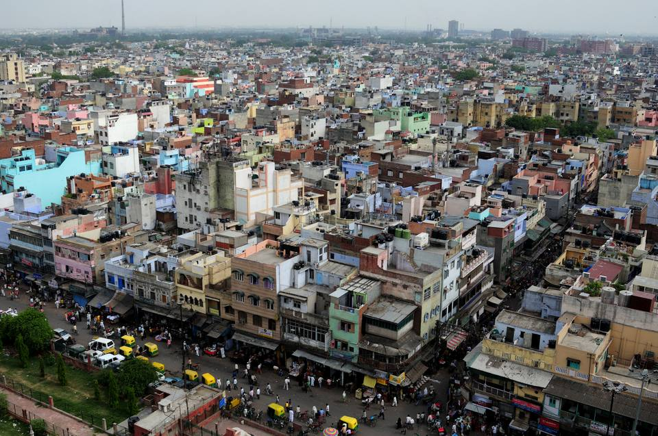 Old Delhi cityscape.