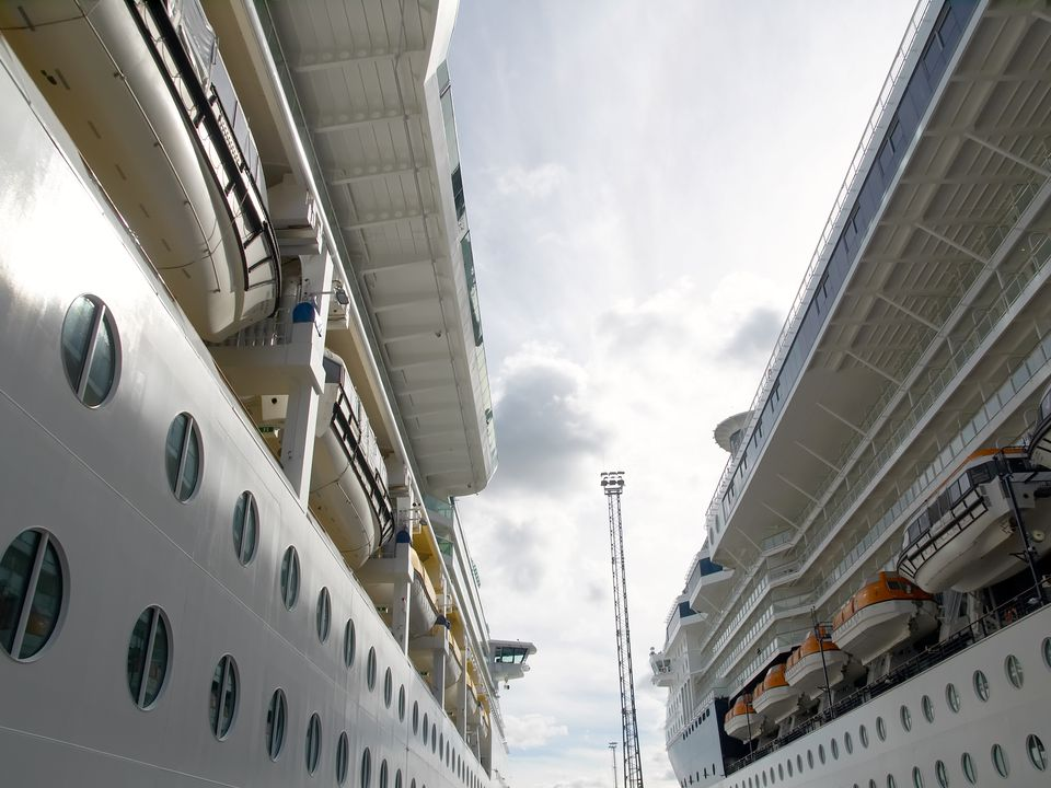 Close up of the cruise ship