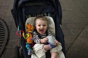 Baby in stroller at Disney World