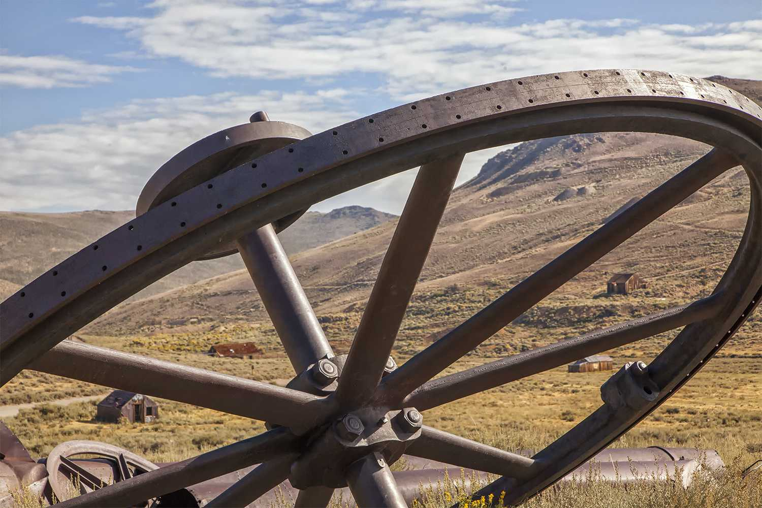Abandoned Mining Equipment in Bodie Ghost Town