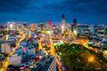 Ho Chi Minh City in Vietnam at night