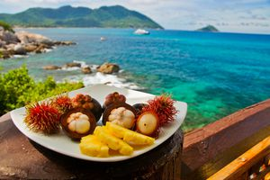 Plate of fruit in Phuket, Thailand