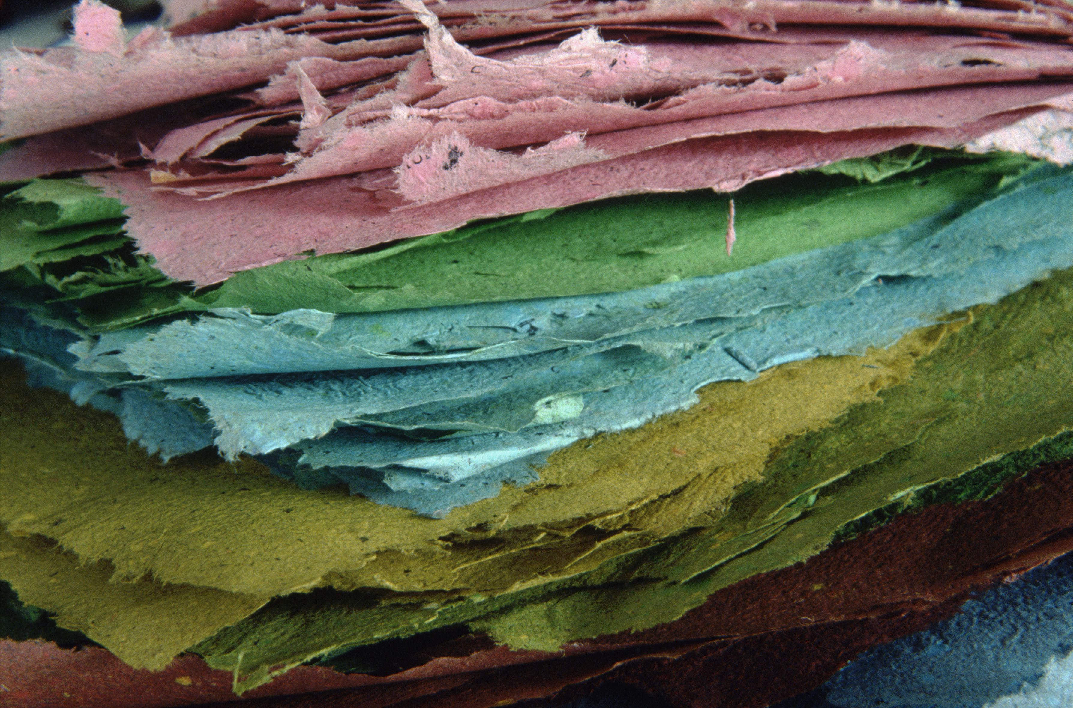 Handmade paper.