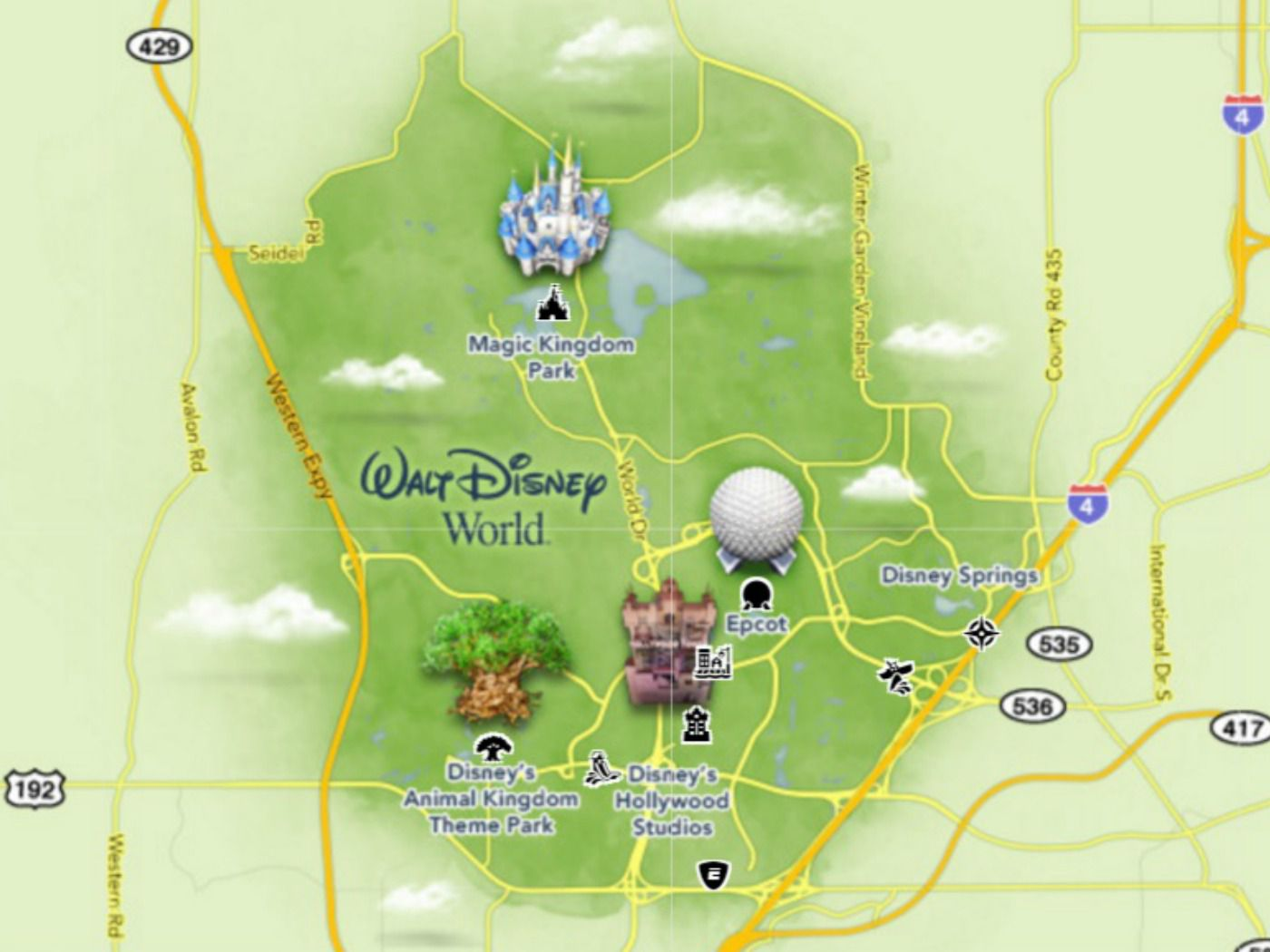 Maps of Walt Disney World's Parks and Resorts Disney World Campground Map on