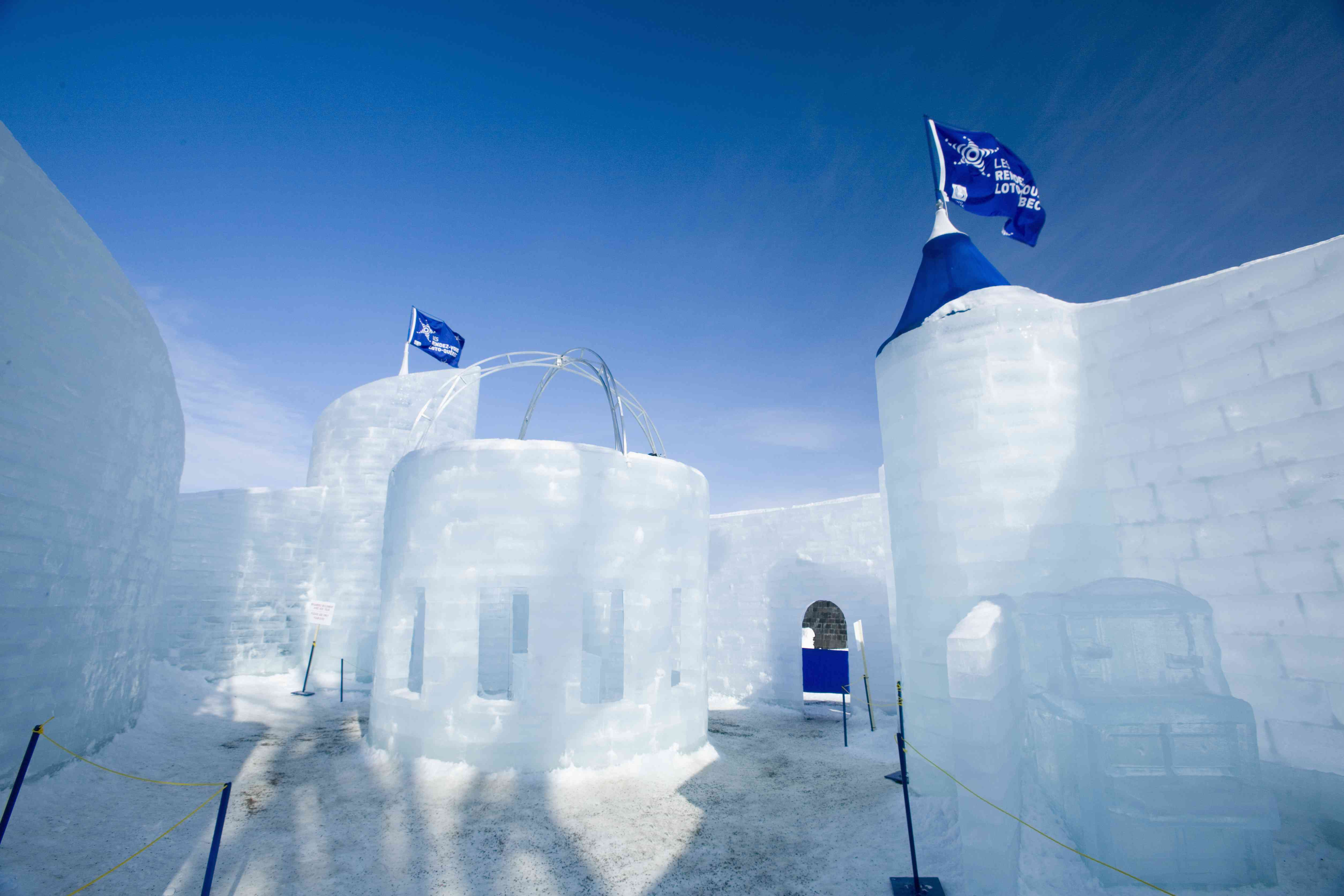 Canada, Quebec, Quebec City, Winter Carnival, Ice Palace
