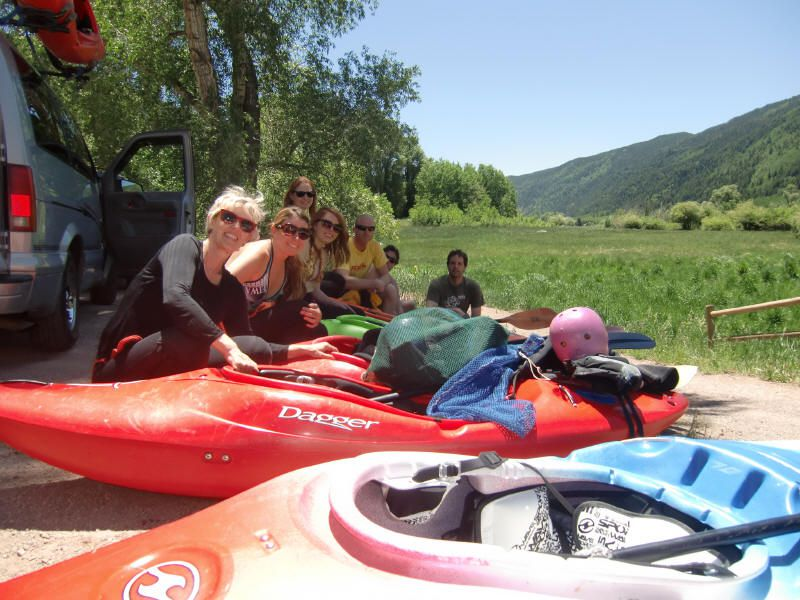 River kayaking lesson