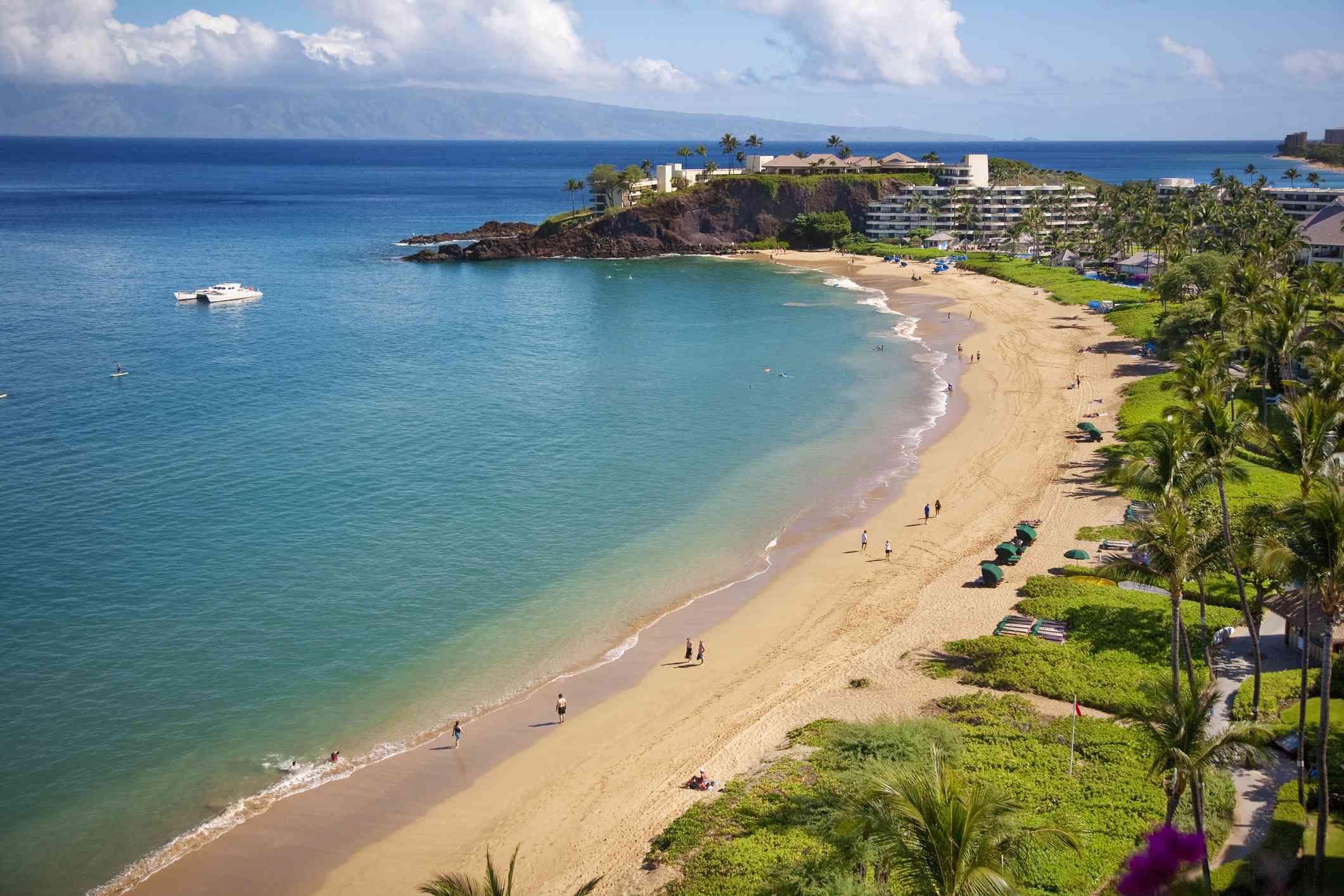 Black Rock Beach in Kaanapali, Maui