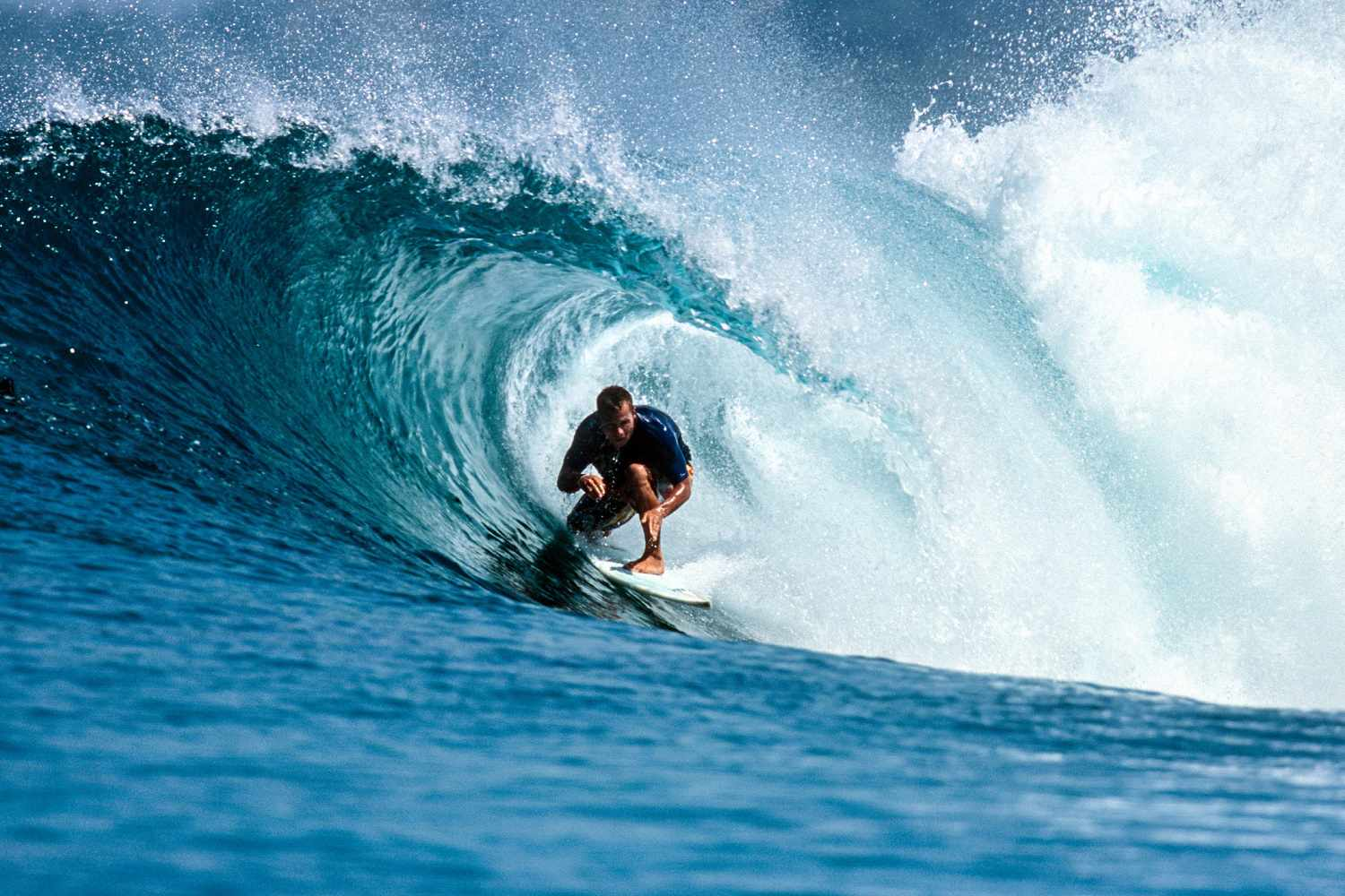 Surfing off Gili Air, Indonesia