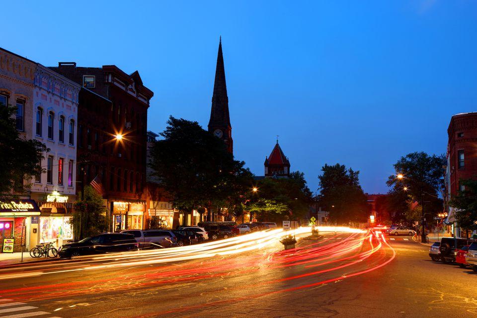 Northampton at night