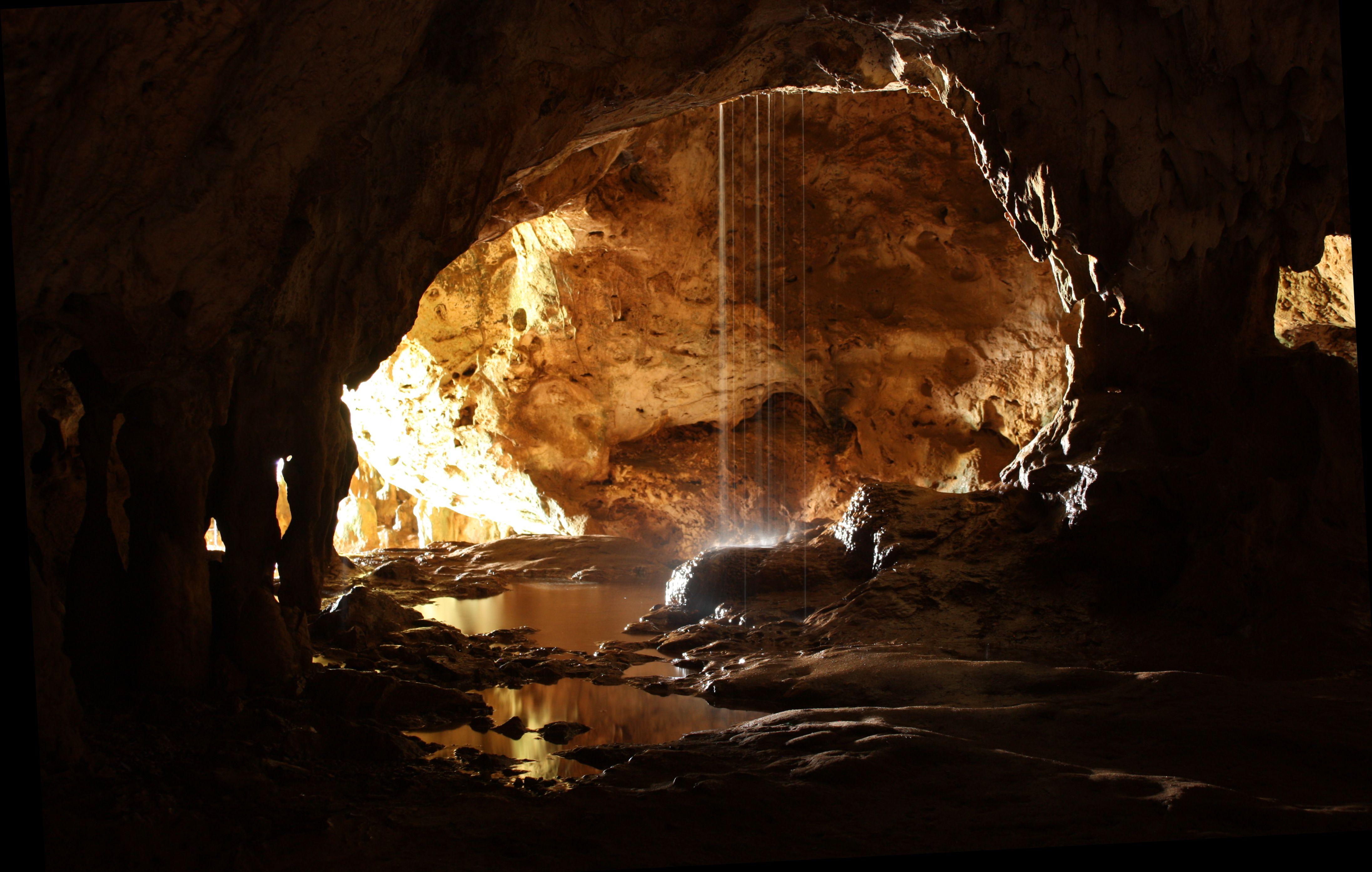 Quadiriki Caves in Arikok National Park.
