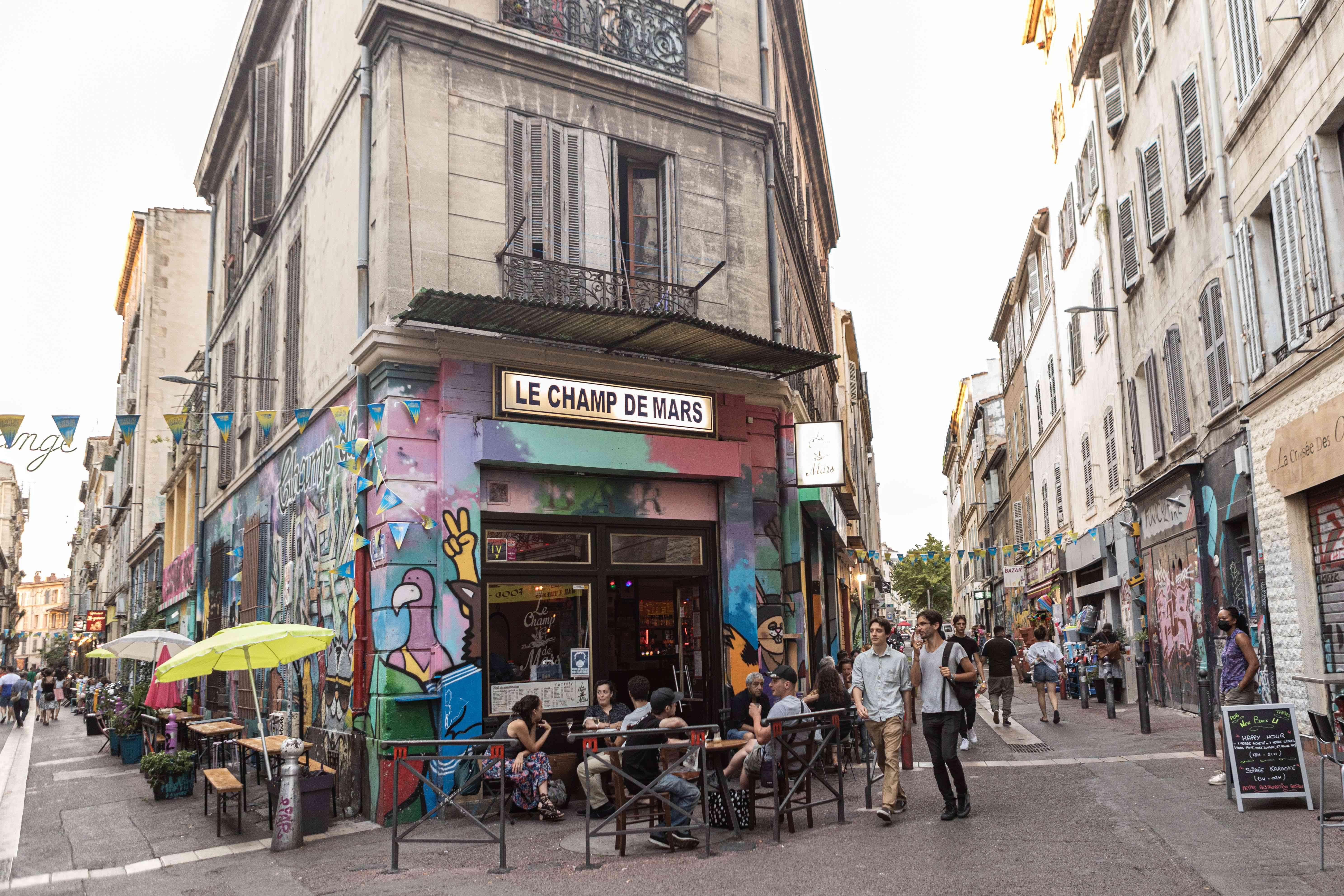 People walking around Cours Julien