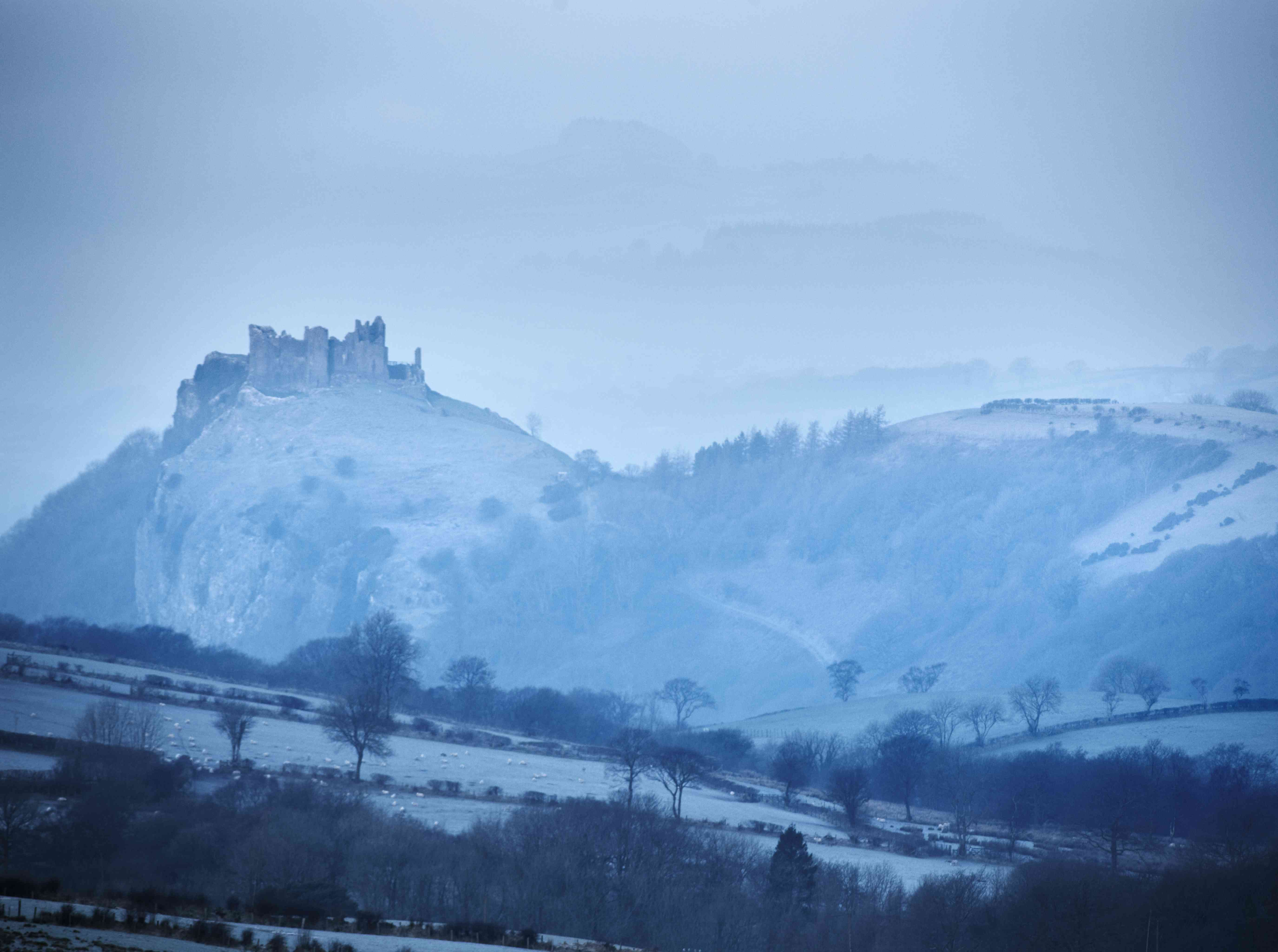 Carreg Cennan Castle, near Llandeilo, Wales