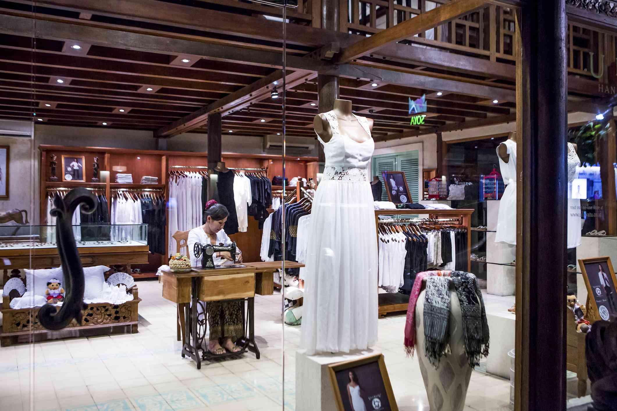Clothes shop in Sanur, Bali