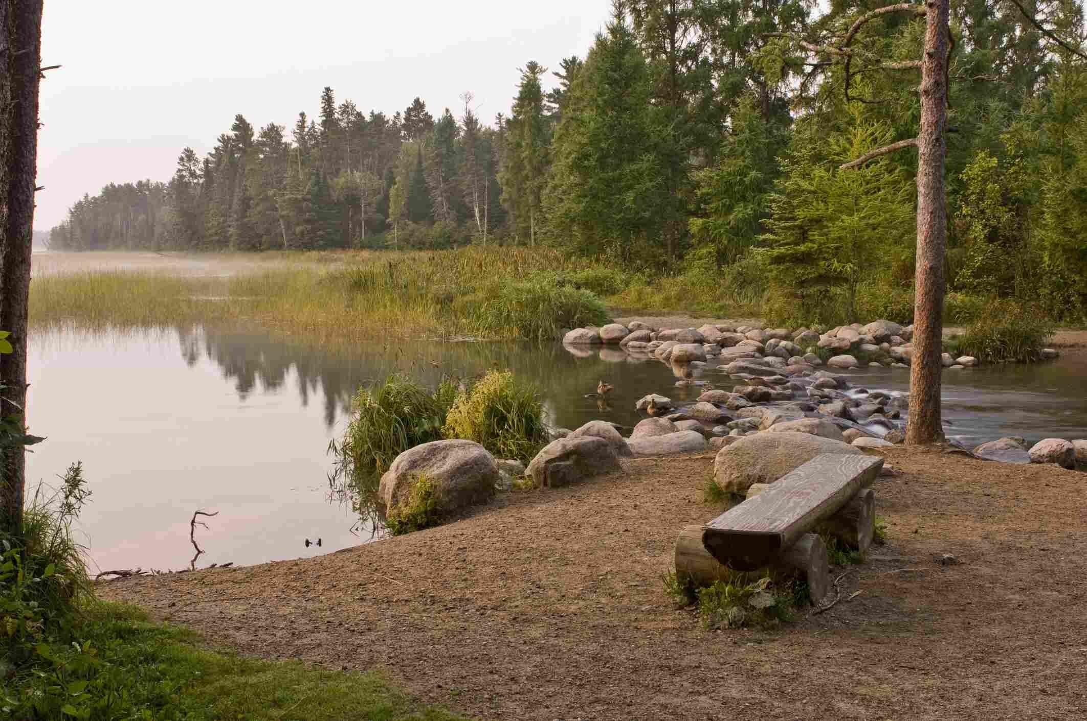 Cabeceras de Mississippi, Itasca State Park, Minnesota, EE. UU.