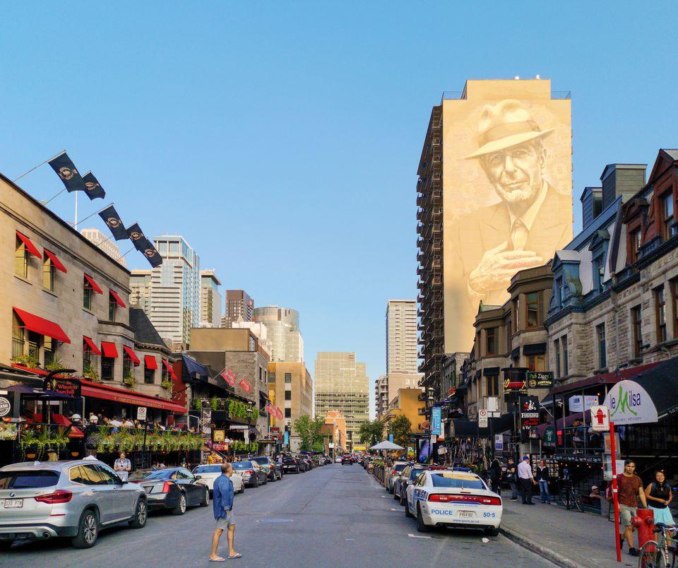 Montreal's Crescent street scene