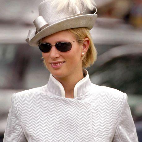 Zara Phillips, hija de la princesa Anne y la nieta de la reina llega para el Día de las Damas