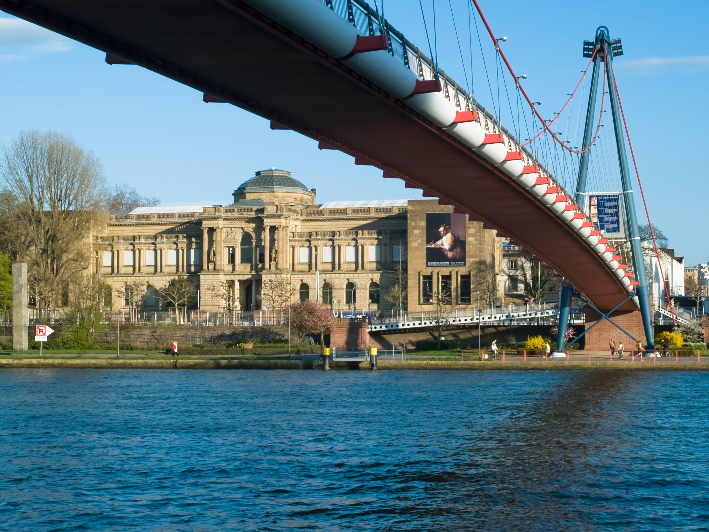 Holbeinsteg, Frankfurt am Main, Hesse, Germany, Europe