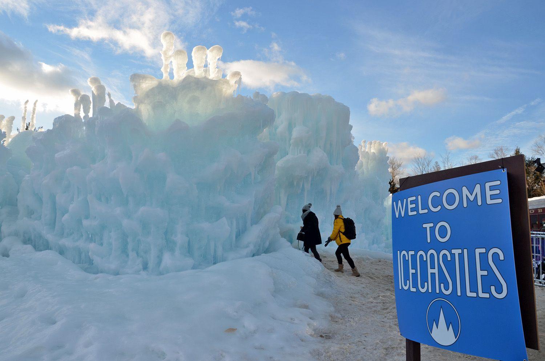 New Hampshire Ice Castle Entrance